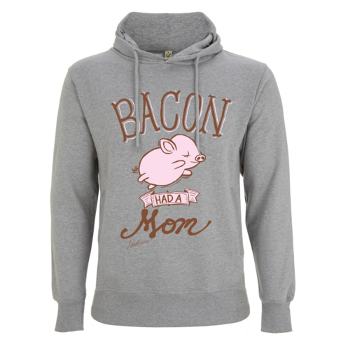 Vegane Kleidung, Vegan Bacon Had A Mom Shirts Bacon Had A Mom Hooded Sweatshirt (hoodie), Aufwärmen, Cool Und Lässig Modelle